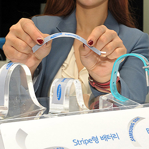 Samsung und LG stellen flexible Akkus vor