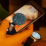 Augmented Reality Spiel Tilt auf der Smartwatch