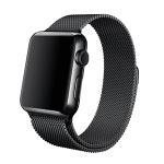Schwarzes Apple Watch Milanaise Armband bald verfügbar