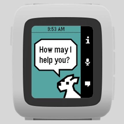 "Pebble Sprachassistent Snowly ist das Pendant zu ""Siri"""
