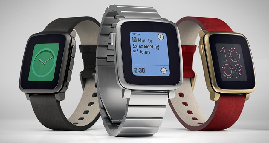 Pebble Time (Steel) iOS Smartwatch