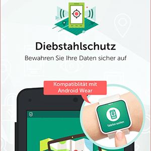 Kaspersky für Android mit Smartwatch steuern