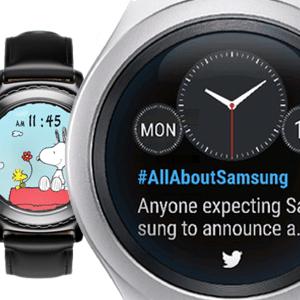 Neue Samsung Gear S2 Watchfaces: Twitter Trends & Snoopy