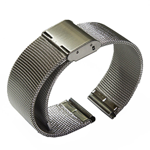 Edelstahl Armband Milanaise (Silber)