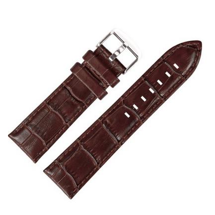 22 mm Armband aus Leder braun