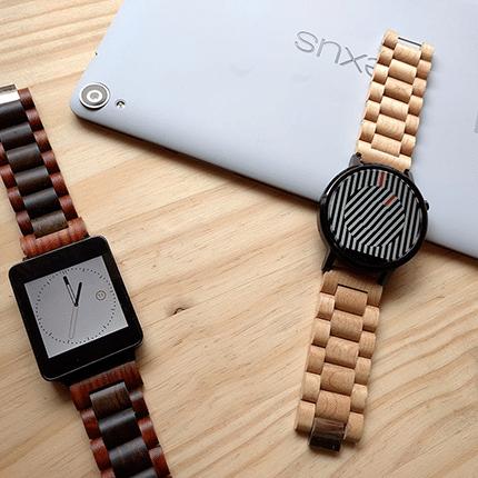 Holzarmbänder für Smartwatches von Ottm vorgestellt