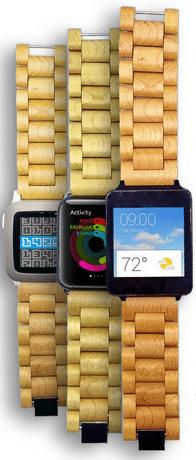 Ottm Holzarmbänder für Smartwatches