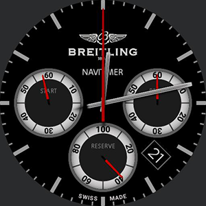 Breitling Stopwatch Navimeter Red Watchface