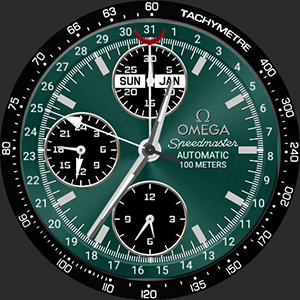 Omega Speedmaster Teal Watchface