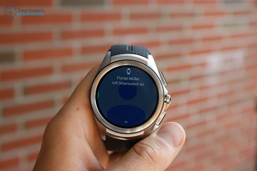 Bei Anrufen greift die LG Watch Urbane 2nd Edition 3G auf das vorher synchronisierte Adressbuch des Smartphones zurück