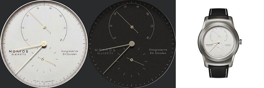 Eine der bekanntesten Uhren überhaupt: Die Nomos Lambda als android wear Watchface