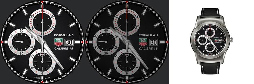 Ein Tag Heuer Klassiker (Kaliber 18) in der Formel 1 Edition