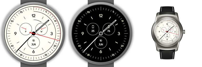 Sehr schlichtes aber perfekt alltagstaugliches android wear Watchface