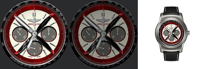 Diese Breitling gibt es natürlich nicht in Wirklichkeit, dafür sieht sie als andriod wear Watchface ganz schön cool aus
