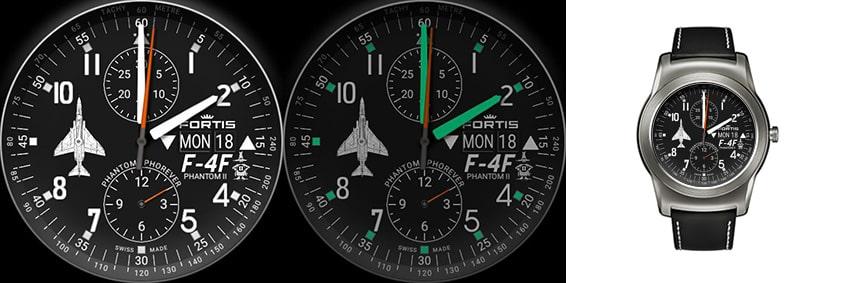 Eines der schönsten Flieger-Watchfaces: Fortis Phantom II