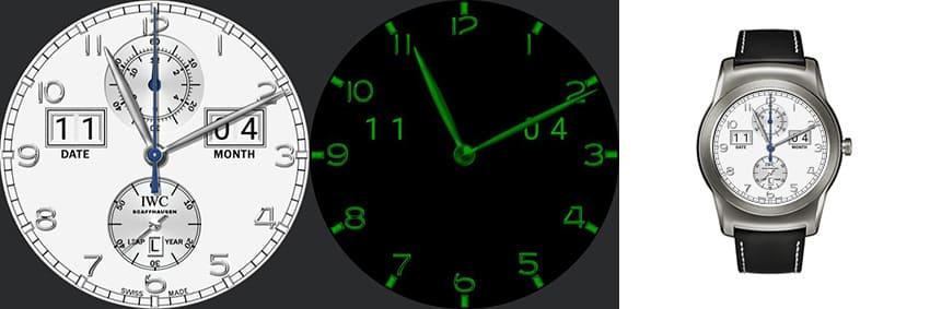 IWC Uhren sind die teuersten der Welt - das android wear Watchface kostet keinen Cent