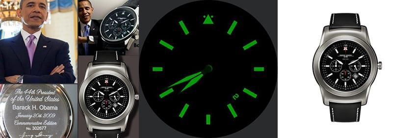 Kein Scherz, das ist die Uhr von Präsident Obama - er trägt sie natürlich als Analog-Variante
