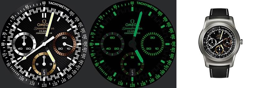 Eines meiner Lieblings-Watchfaces: Das Omega Speedmaster Rio Ziffernblatt