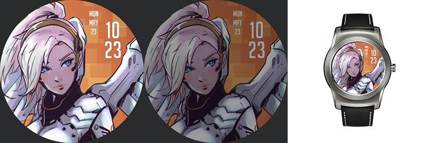 Für alle Manga-Freunde: Sehr stylisches Watchface mit einer netten Dame