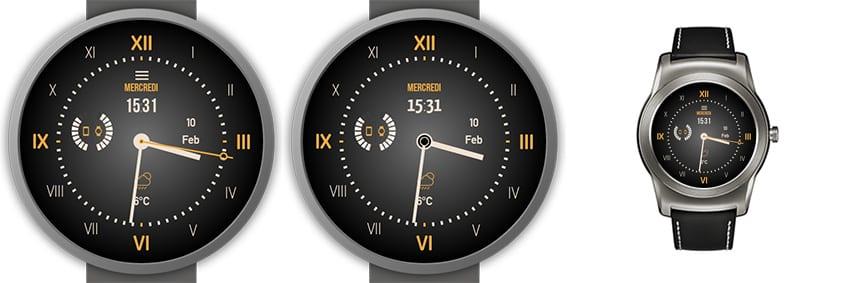 Eine Mischung aus klassischen Watchface mit römischen Ziffern und modernen Komplikationen