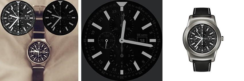 Klassischer Chronograph mit silbernen Zeigern und schwarzem Ziffernblatt - passt zu jedem Style