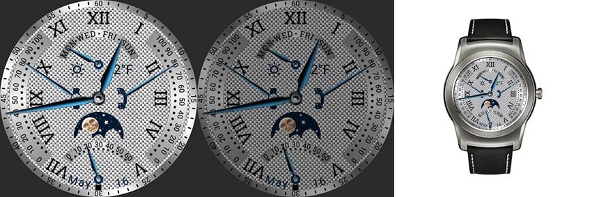 Eher etwas für extravagante Momente: Das Bling-Bling Watchface mit ewigem Kalender