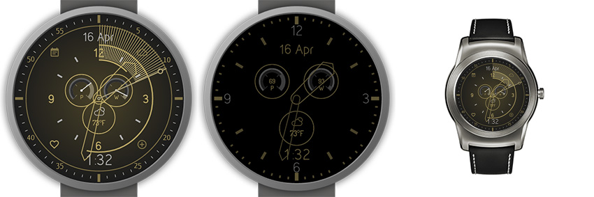 Ziemlich cooles Watchface mit minimalistischen Zeigern und einem tollen Always-On-Modus