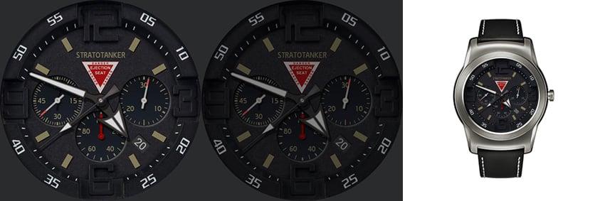 Stratotanker ist ein android wear Watchface für Militär-Fans