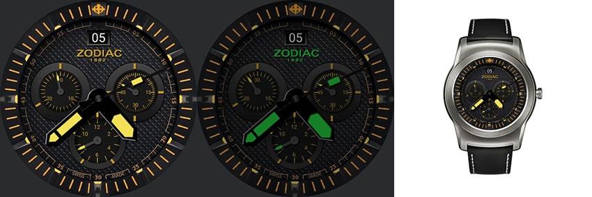 Erinnert auf jeden Fall an eine Fliegeruhr: Die Zotac mit lumineszierenden Zeigern im Always-On-Modus