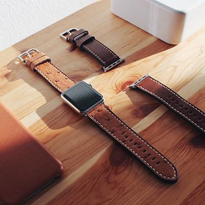 Apple Watch Lederarmbänder vom deutschen Startup BandWerk