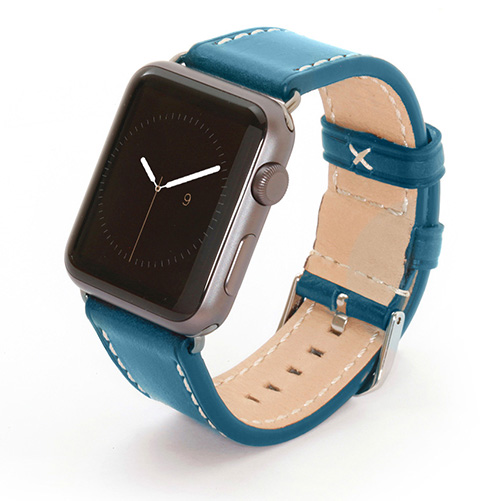 Apple Watch Lederarmband blau