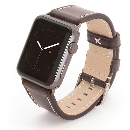 Apple Watch Lederarmbänder grau