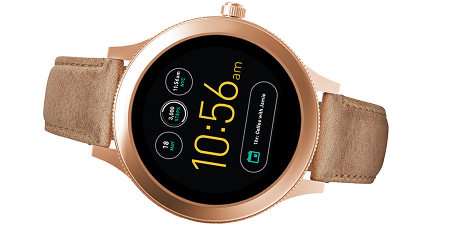 fossil q venture an dieser damen smartwatch kommt man. Black Bedroom Furniture Sets. Home Design Ideas